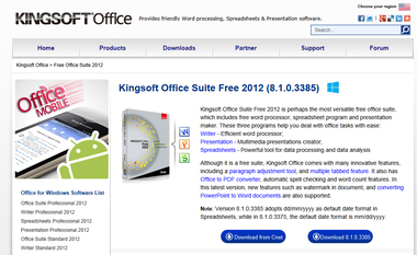 Kingsoftoffice2012free