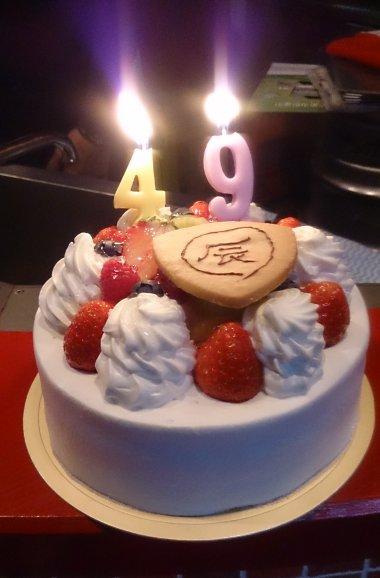 お誕生日ケーキ 数字の形をしたローソク その2: 夜明け前