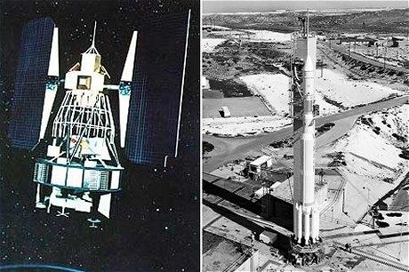 ランドサット1号とデルタ900ロケット