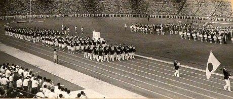 1967年ユニバーシアード東京の入場式