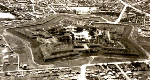 五稜郭公園の航空写真(昭和37年6月)