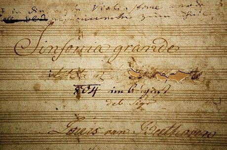交響曲第3番 浄書総譜表紙(ウィーン楽友協会)