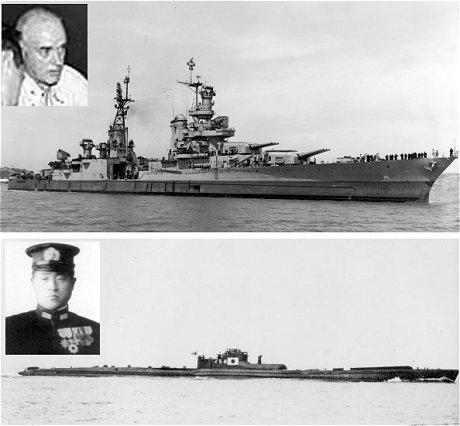 インディアナポリス(マクベイ艦長)と伊58(橋本艦長)