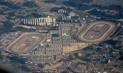 JRA美浦トレーニングセンター(航空写真)