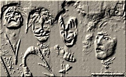古代遺跡ロックバンド壁画