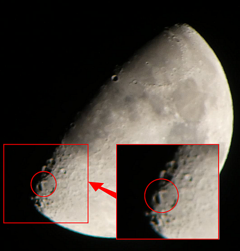 月面L(月齢9 2021年4月21日21:47撮影 f:8 ss:1/125 ISO:400)