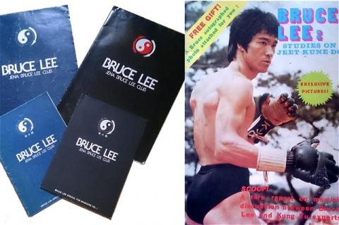 ブルース・リーのファンクラブの会報と香港から取り寄せた雑誌