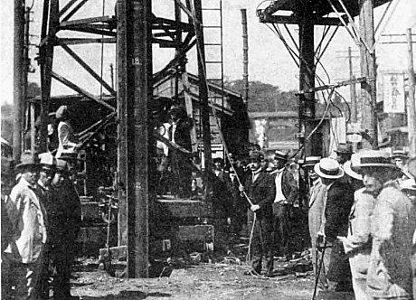 地下鉄の起工式(1925年9月27日)