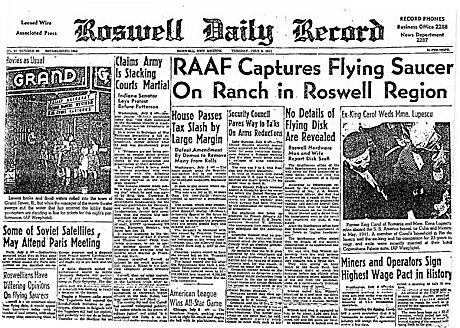 ロズウェル・デイリー・レコード(1947年7月8日)