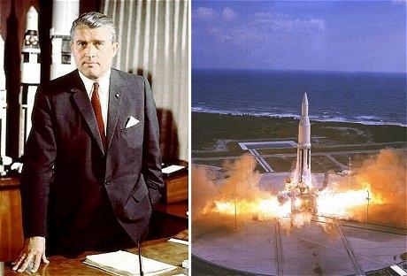 ヴェルナー・フォン・ブラウンとサターン I SA-1ロケットの打ち上げ