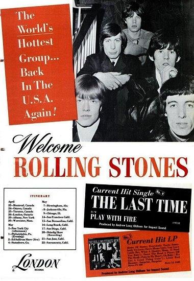 ローリング・ストーンズ1965年北米ツアーの広告