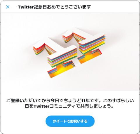 Twitter記念日
